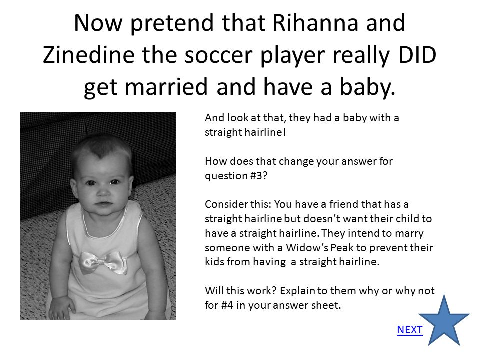 Now pretend that Rihanna and Zinedine the soccer player really DID get married and have a baby.