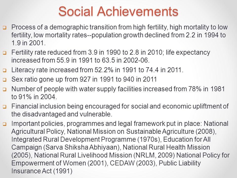 Social Achievements