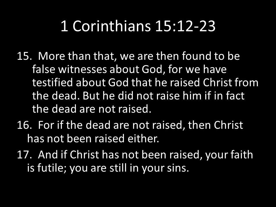 1 Corinthians 15:12-23