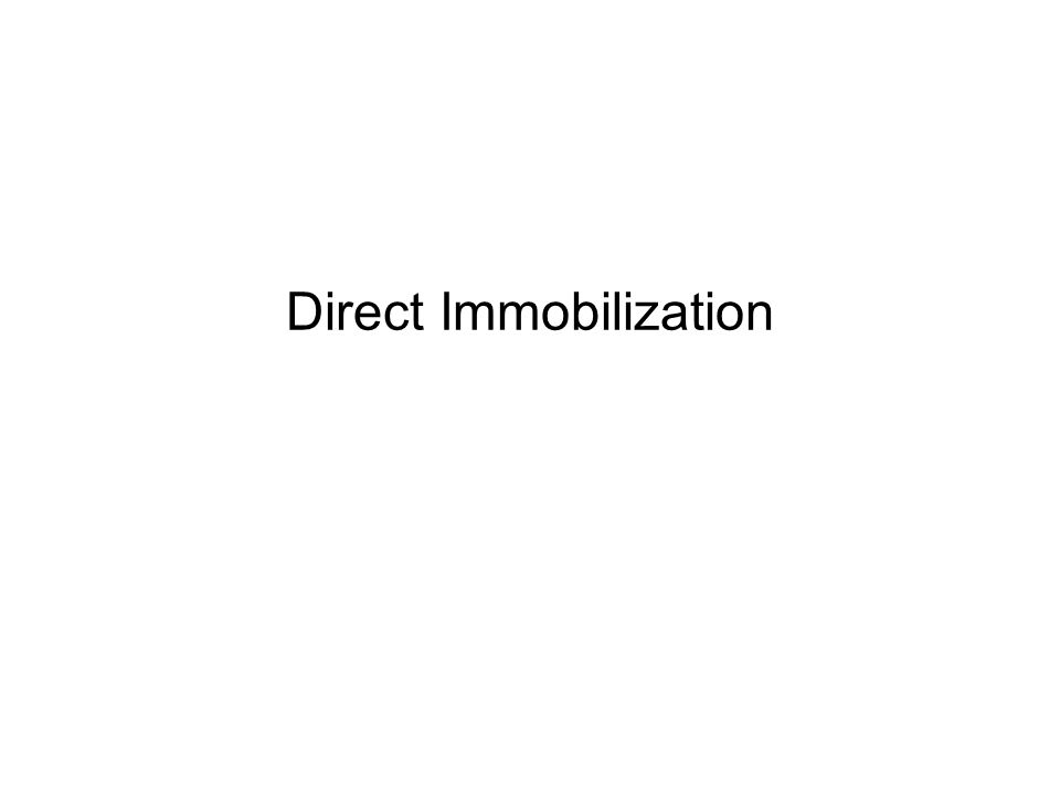 Direct Immobilization