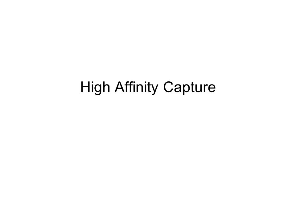 High Affinity Capture