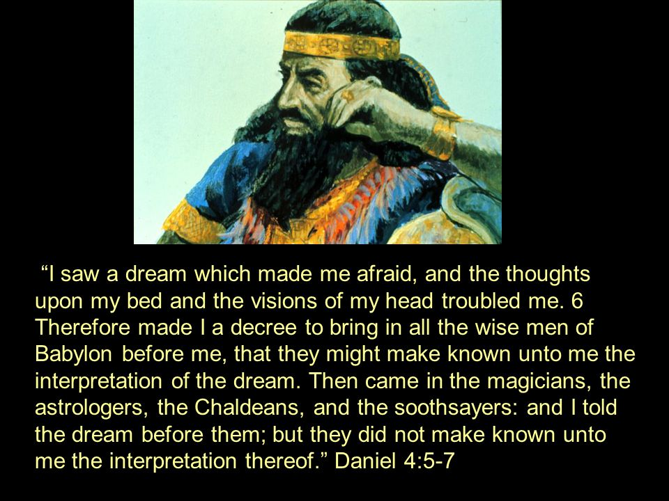 I saw a dream which made me afraid, and the thoughts upon my bed and the visions of my head troubled me.