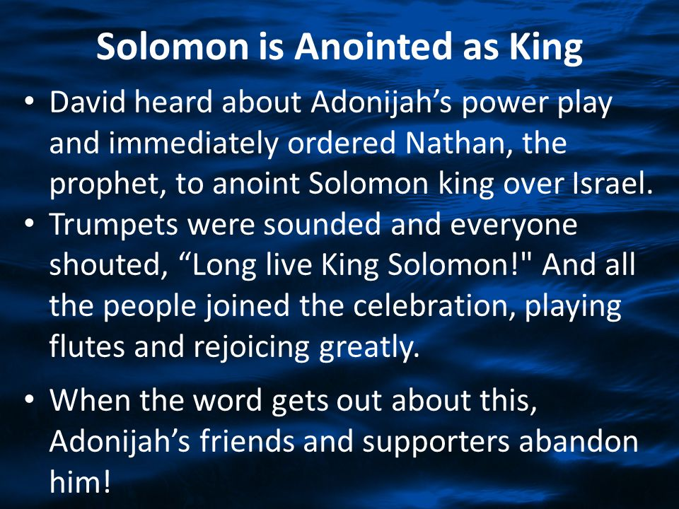Solomon is Anointed as King