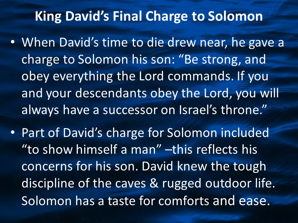 King David's Final Charge to Solomon
