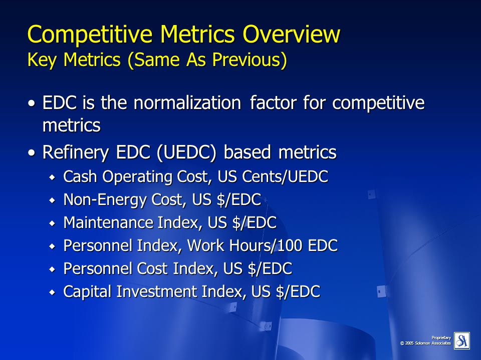Competitive Metrics Overview Key Metrics (Same As Previous)