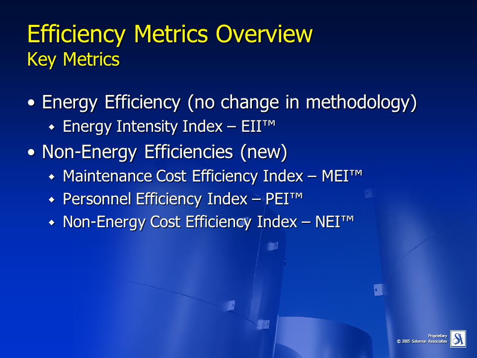 Efficiency Metrics Overview Key Metrics