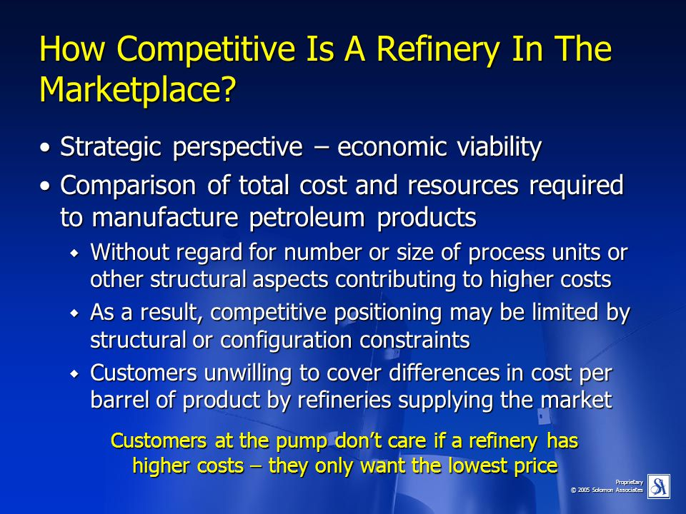 How Competitive Is A Refinery In The Marketplace