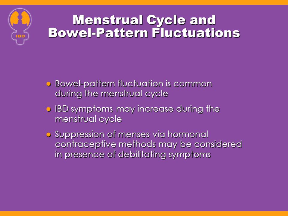 Menstrual Cycle and Bowel-Pattern Fluctuations