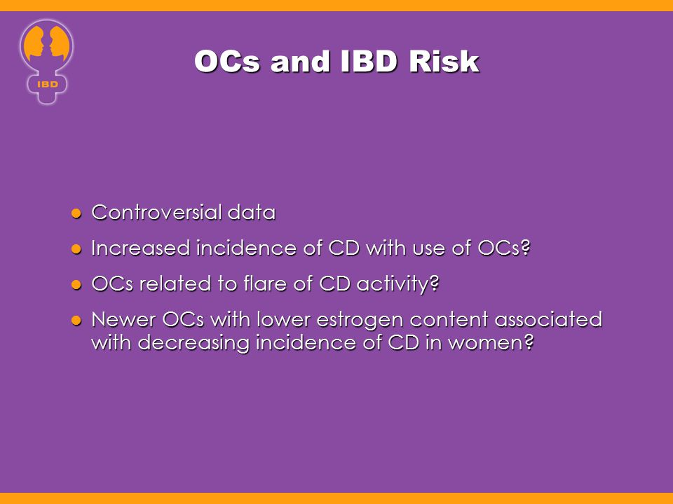 OCs and IBD Risk Controversial data