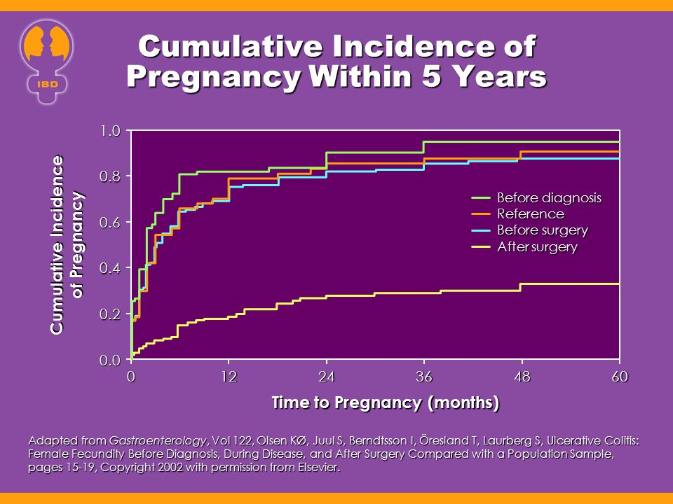Cumulative Incidence of Pregnancy Within 5 Years