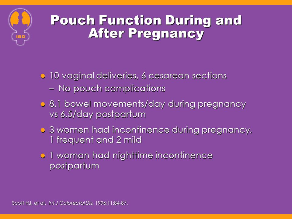 Pouch Function During and After Pregnancy