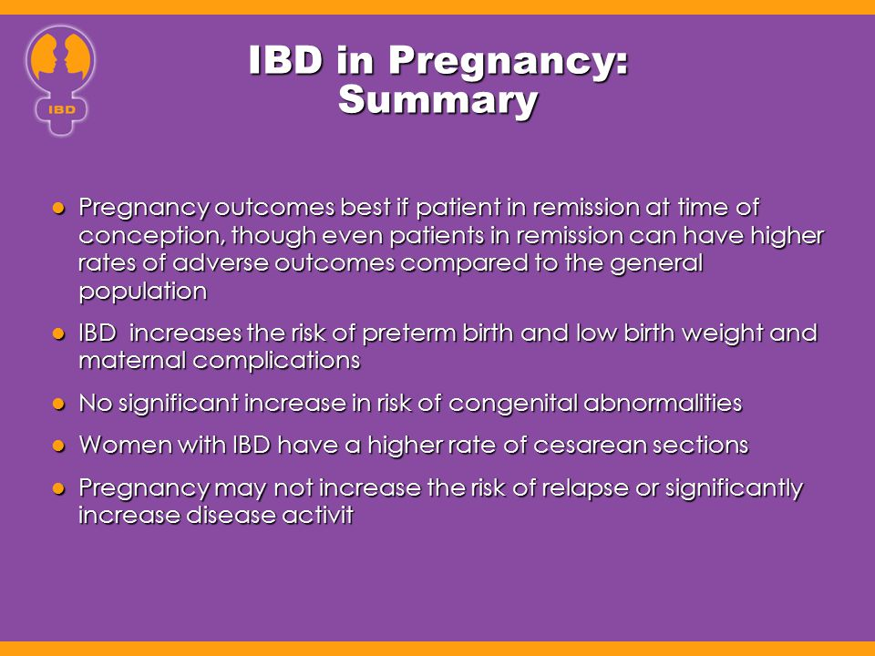 IBD in Pregnancy: Summary