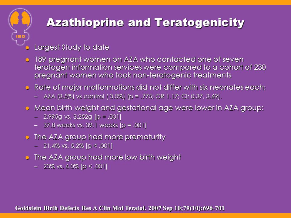 Azathioprine and Teratogenicity
