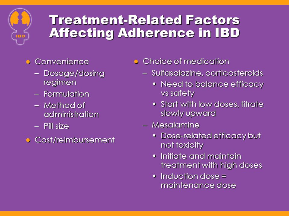 Treatment-Related Factors Affecting Adherence in IBD