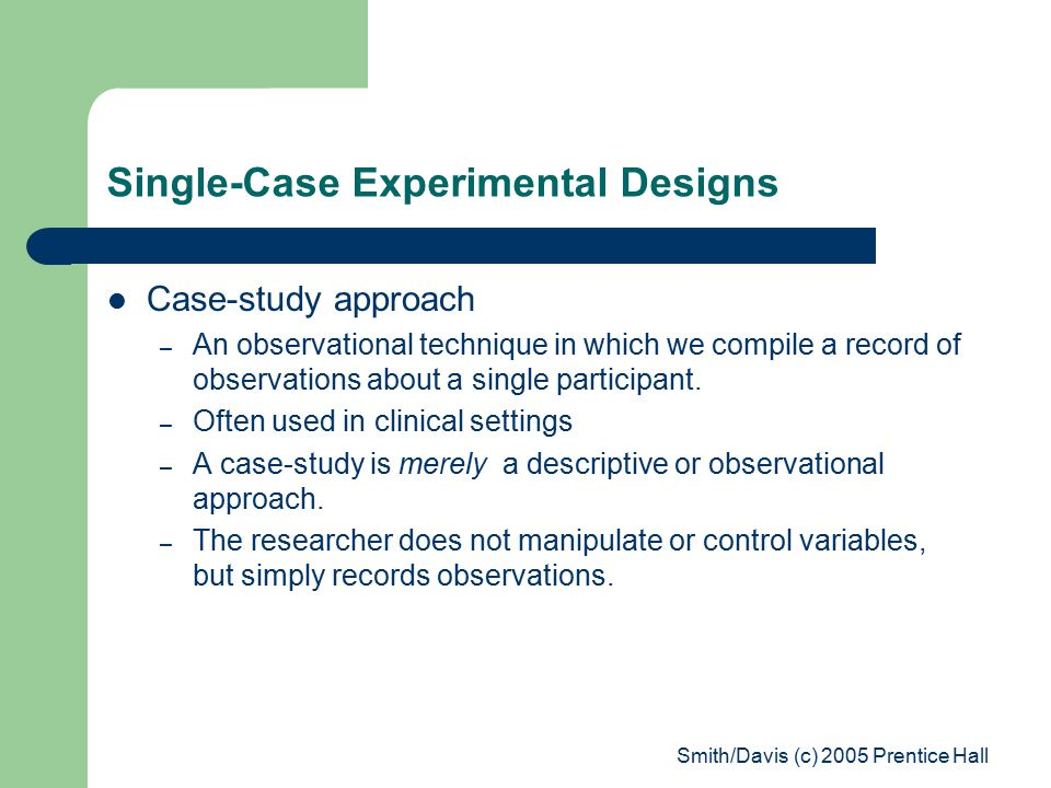 Case study design psychology