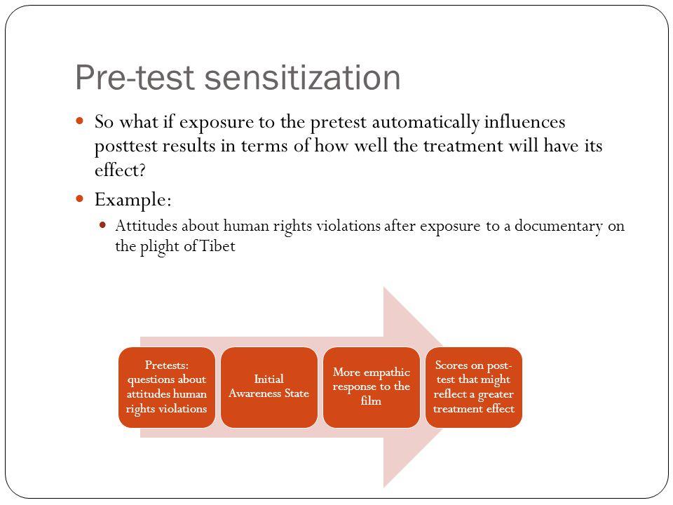 Pre-test sensitization