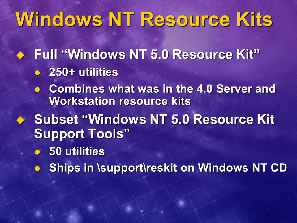 Windows NT Resource Kits