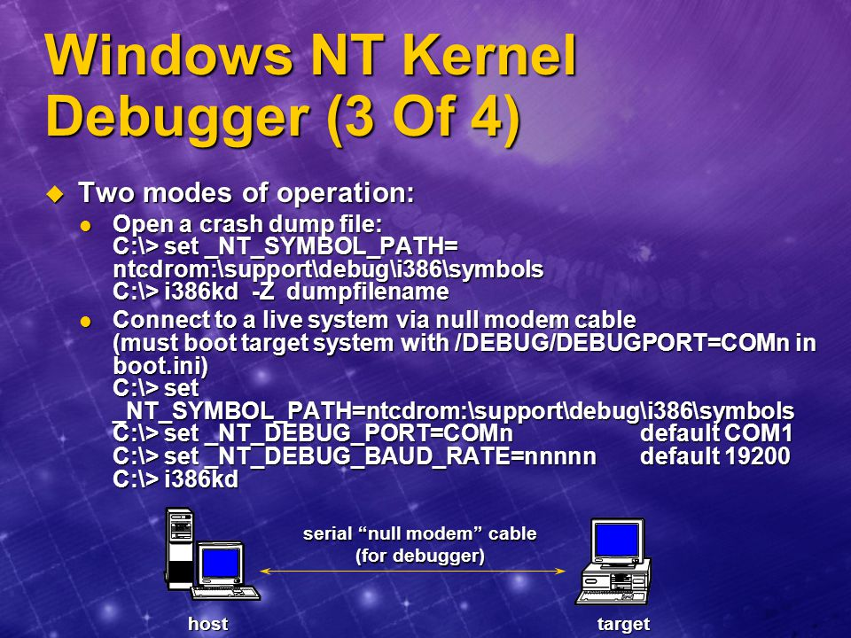 Windows NT Kernel Debugger (3 Of 4)