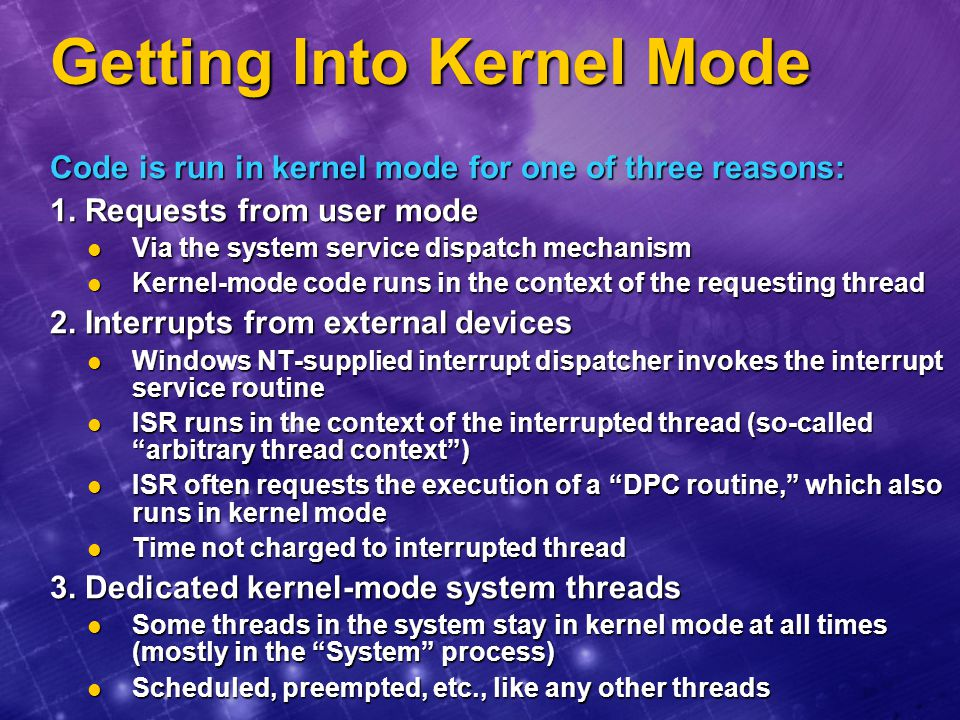 Getting Into Kernel Mode