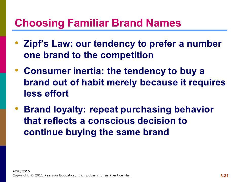 Choosing Familiar Brand Names