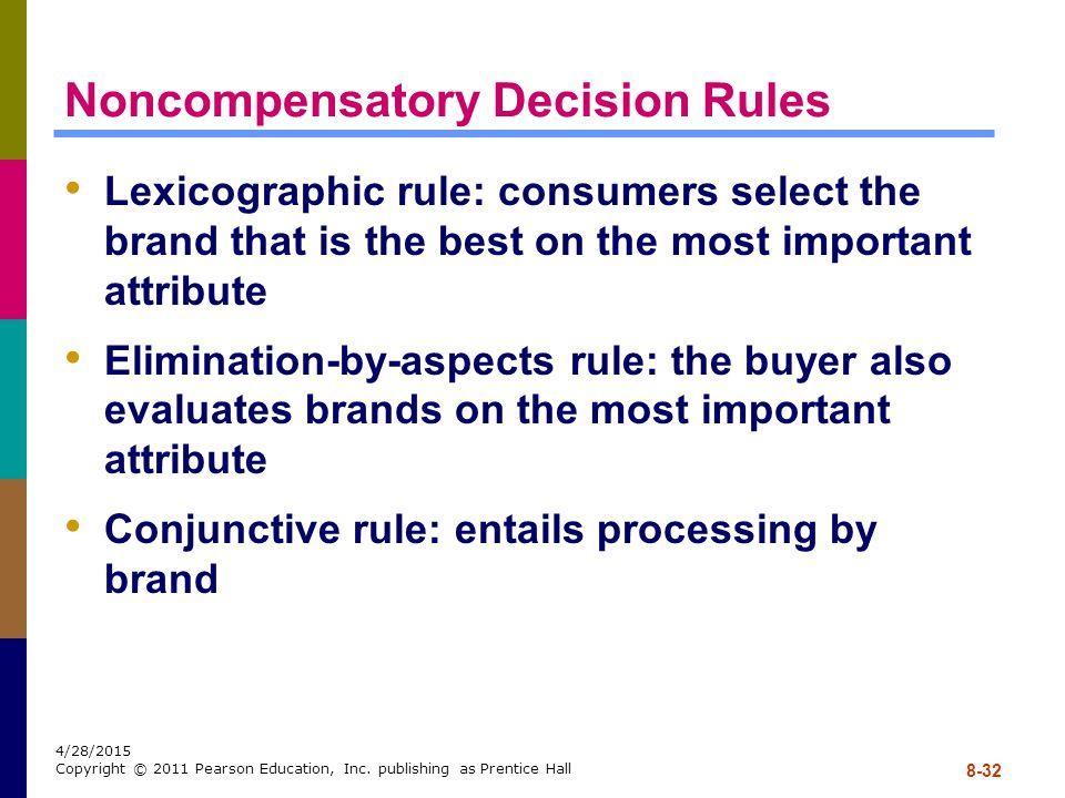 Noncompensatory Decision Rules