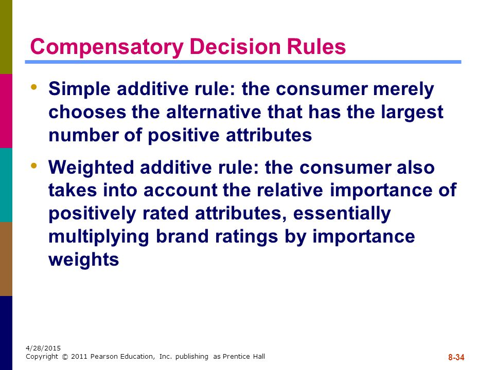 Compensatory Decision Rules
