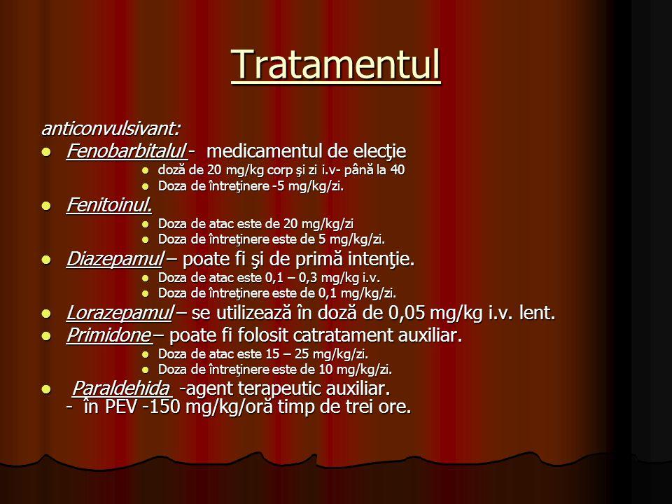Tratamentul anticonvulsivant: Fenobarbitalul - medicamentul de elecţie