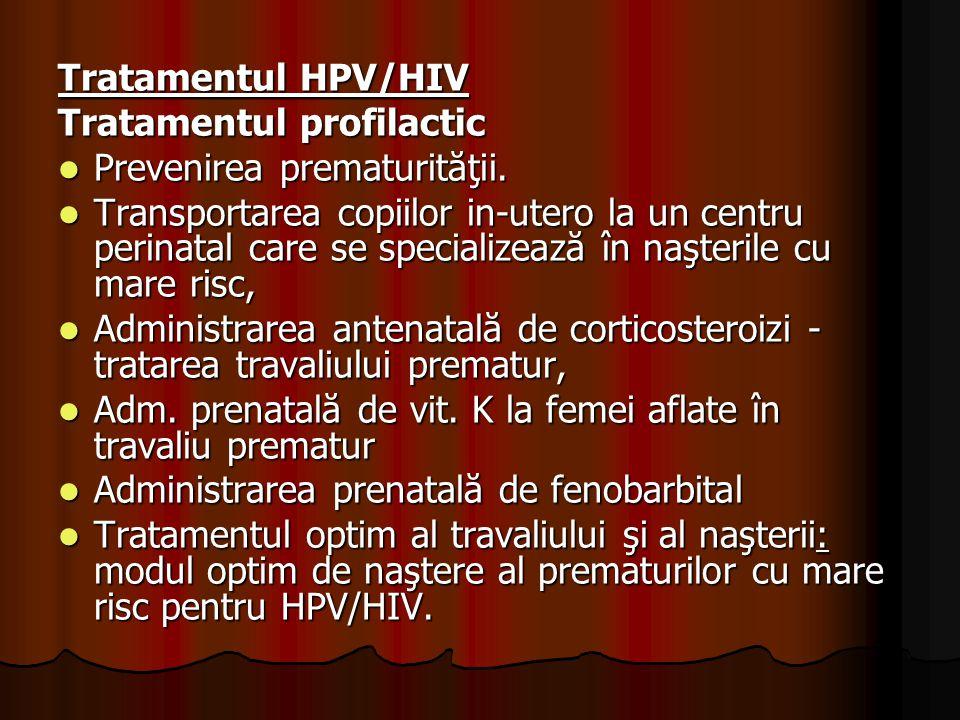 Tratamentul HPV/HIV Tratamentul profilactic. Prevenirea prematurităţii.