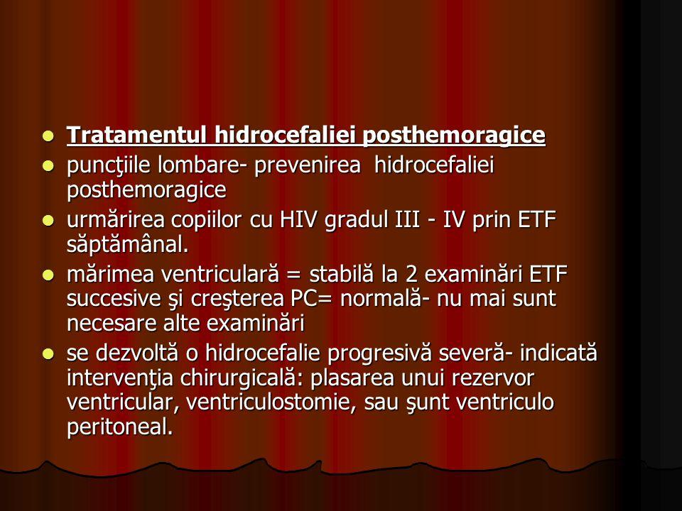 Tratamentul hidrocefaliei posthemoragice