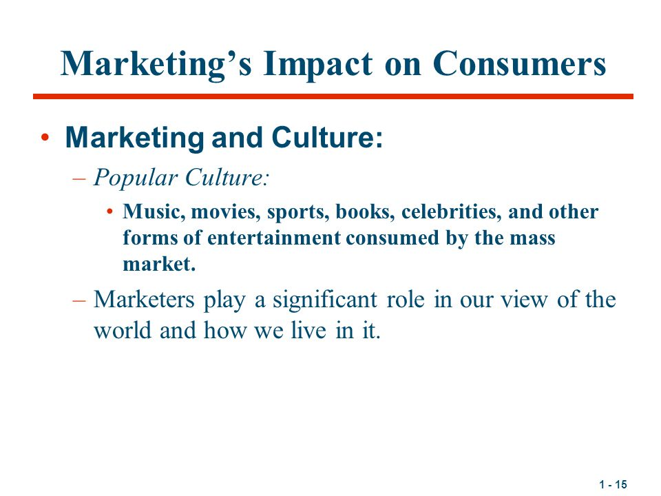 Marketing's Impact on Consumers