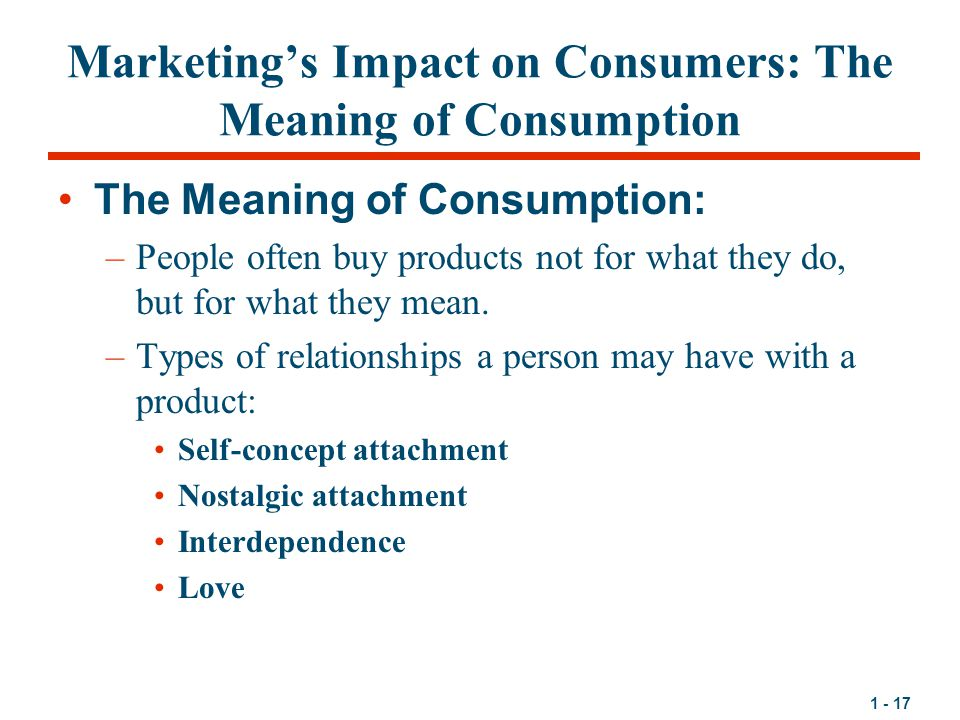 Marketing's Impact on Consumers: The Meaning of Consumption