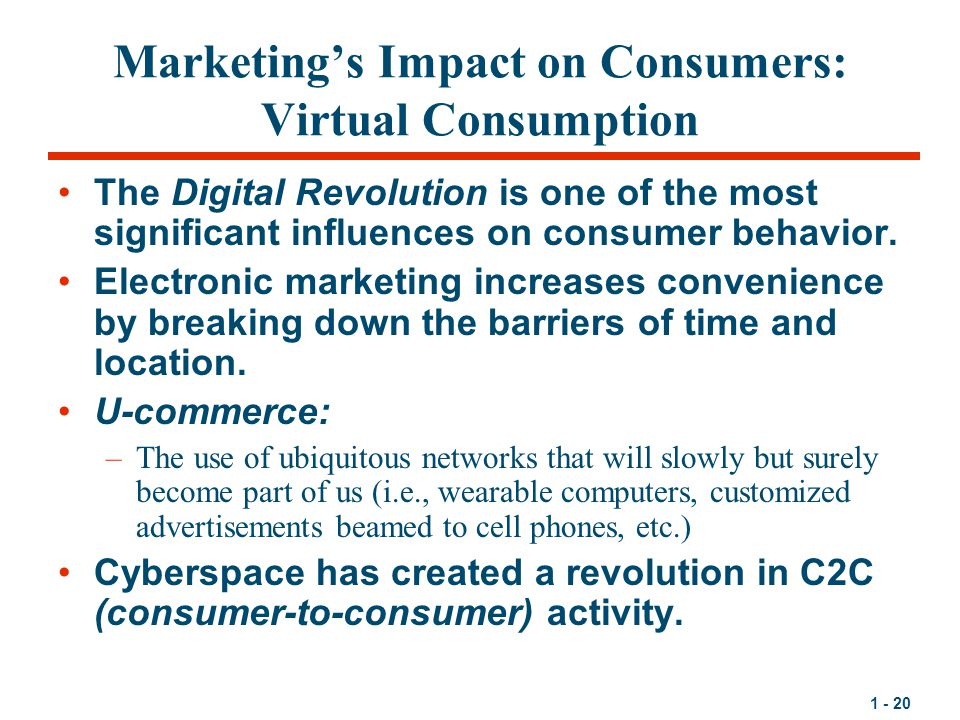 Marketing's Impact on Consumers: Virtual Consumption