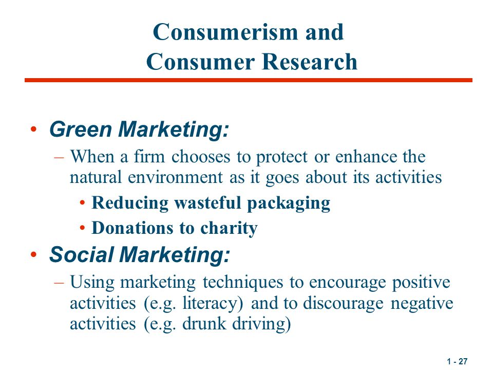 consumerism environmentalism and marketing With environment and environmental problems gaining importance for people,   and then the concepts of green marketing and green consumer are explained.