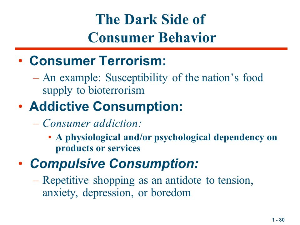 The Dark Side of Consumer Behavior