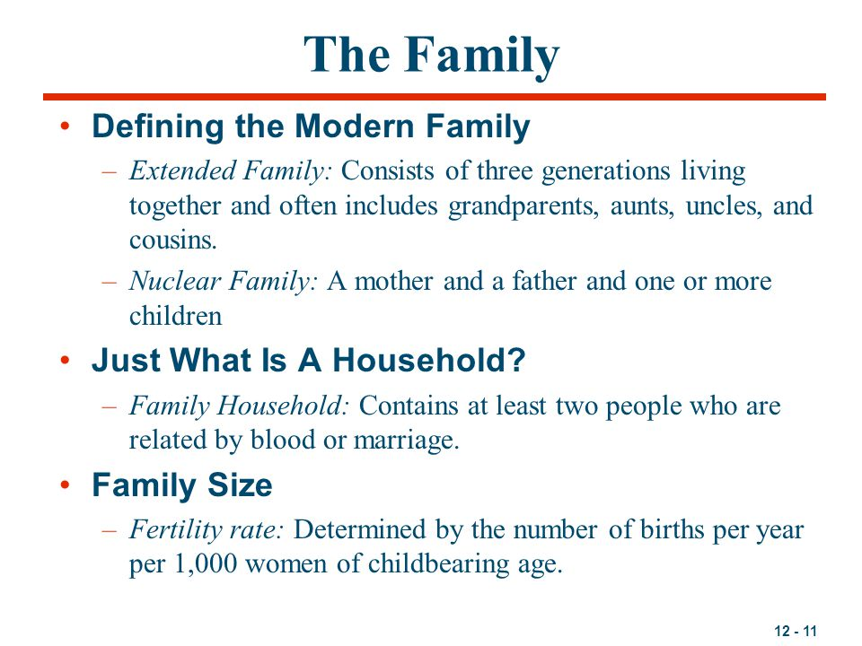 The Family Defining the Modern Family Just What Is A Household