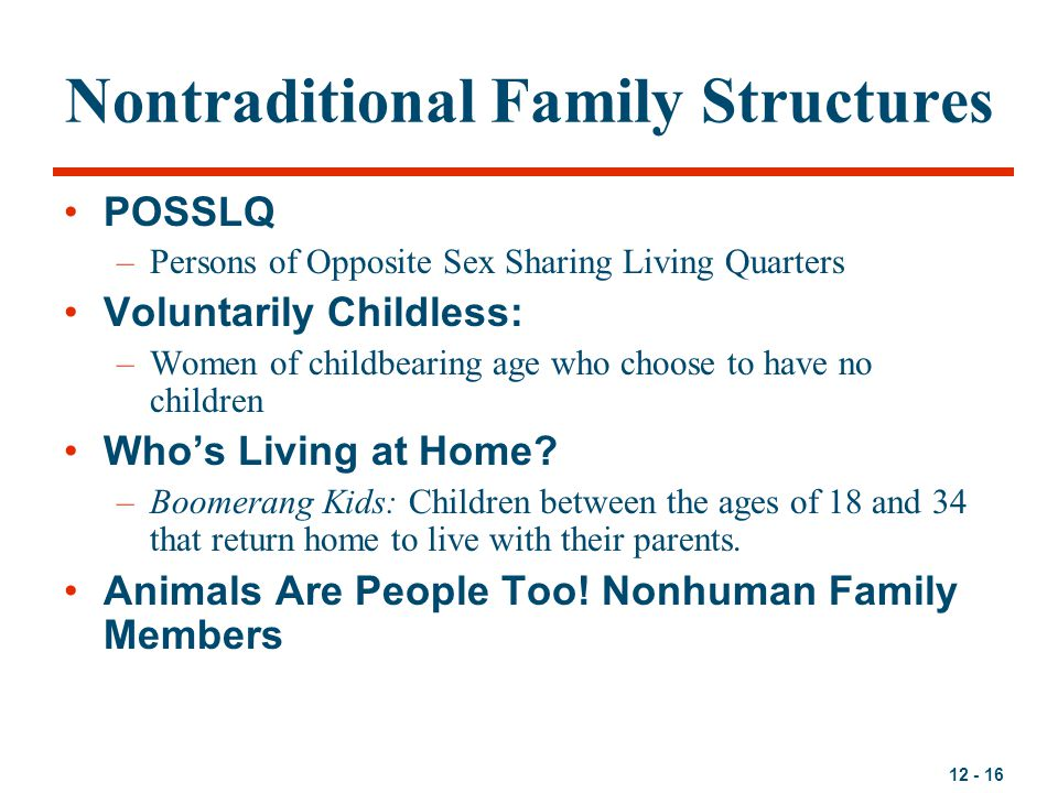 Nontraditional Family Structures