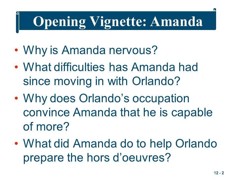 Opening Vignette: Amanda