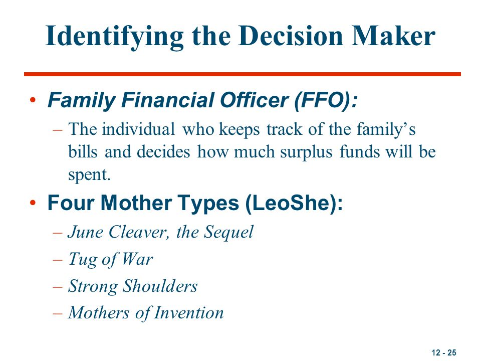 Identifying the Decision Maker