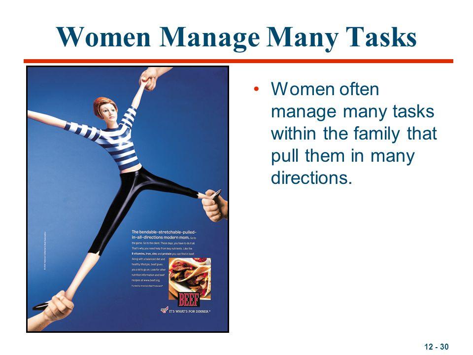 Women Manage Many Tasks