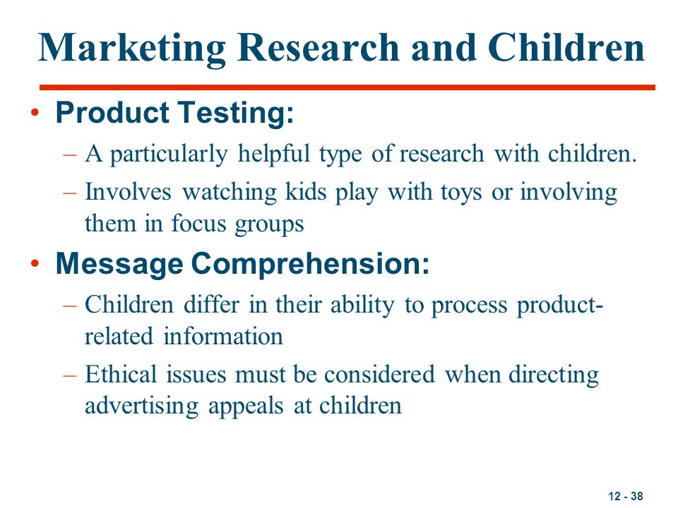 Marketing Research and Children