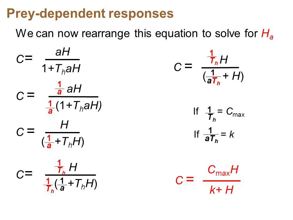 Prey-dependent responses