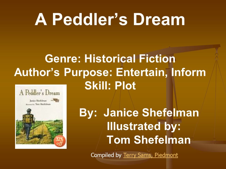 Genre: Historical Fiction Author's Purpose: Entertain, Inform
