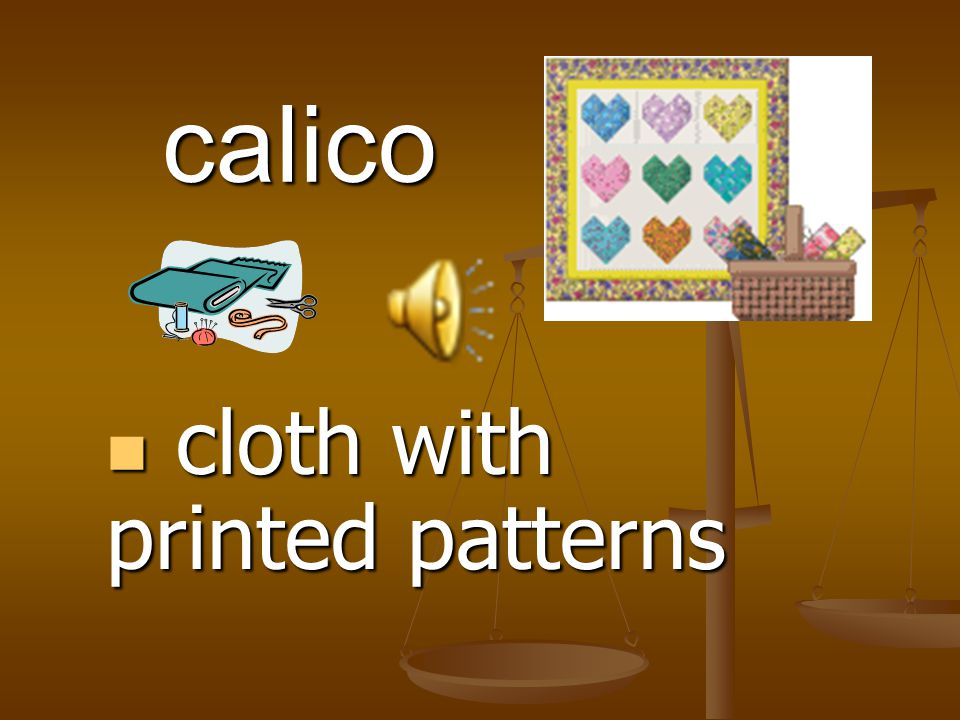cloth with printed patterns