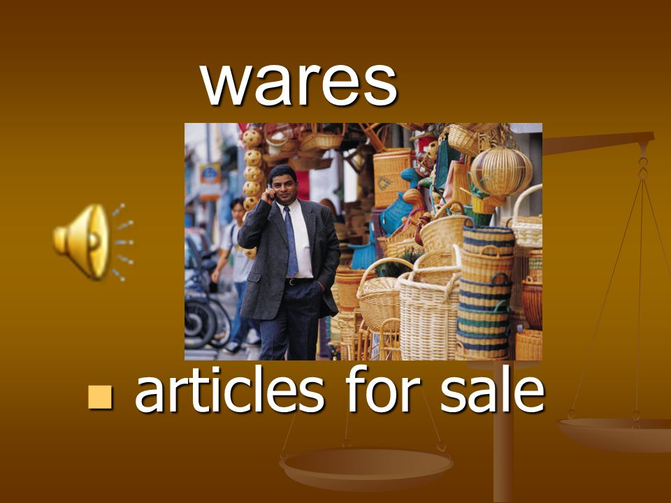 wares articles for sale