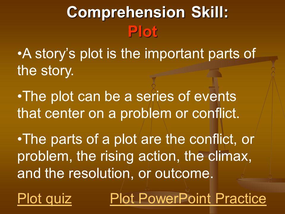Comprehension Skill: Plot