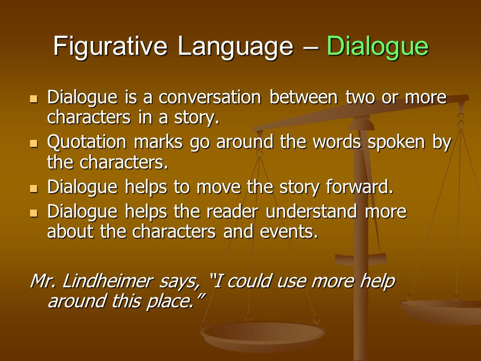 Figurative Language – Dialogue