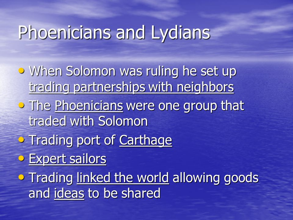 Phoenicians and Lydians