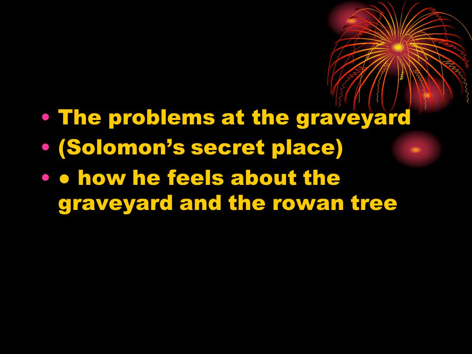 The problems at the graveyard