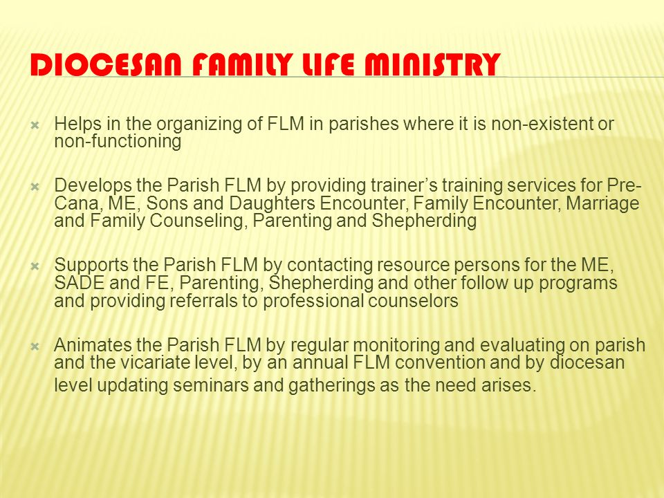 Diocesan Family Life Ministry