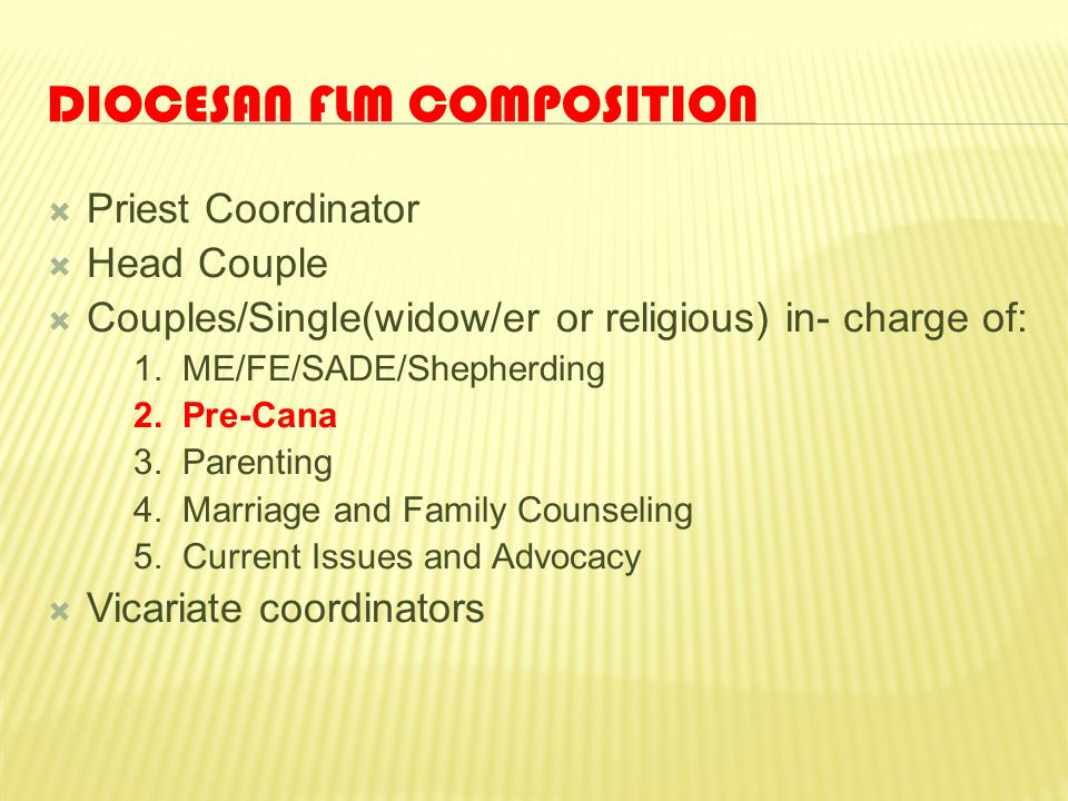 Diocesan FLM Composition